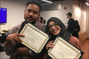 NU-Q Students Attend Research Expo on Home Campus