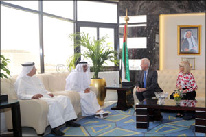Dubai Health Authority discusses collaboration with British healthcare firms.