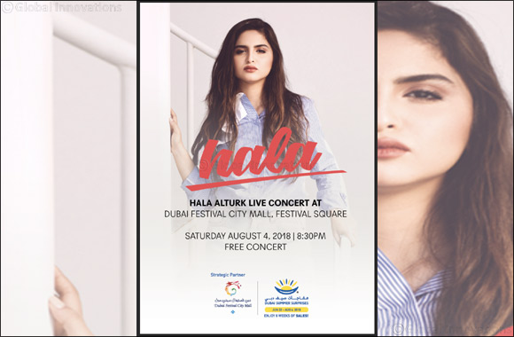 Regional Pop Star Hala Turk to Officially Close Dubai Summer Surprises With a Free Concert at Dubai Festival City Mall