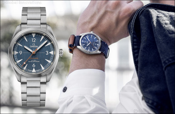 OMEGA releases a denim-inspired Railmaster