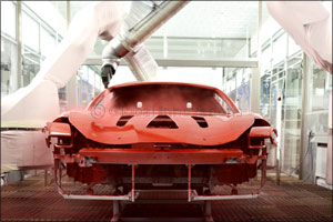 Ferrari introduces the world's first low-bake paint technology