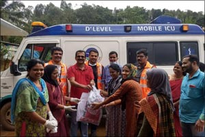 Aster Disaster Support Team mobilized to help Kerala flood victims