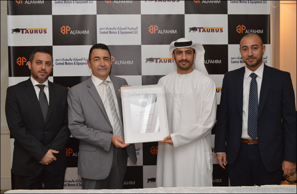 ALFAHIM's Central Motors & Equipment introduces established European tyre-maker TAURUS to UAE