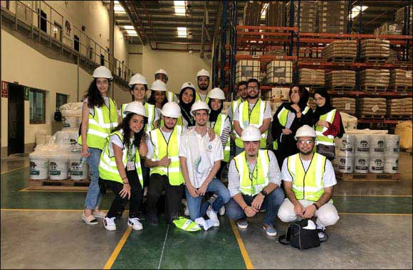 Ajman University students receive training from Caparol Paints experts