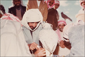 Sheikh Zayed, the First Falconer and Nature Protector