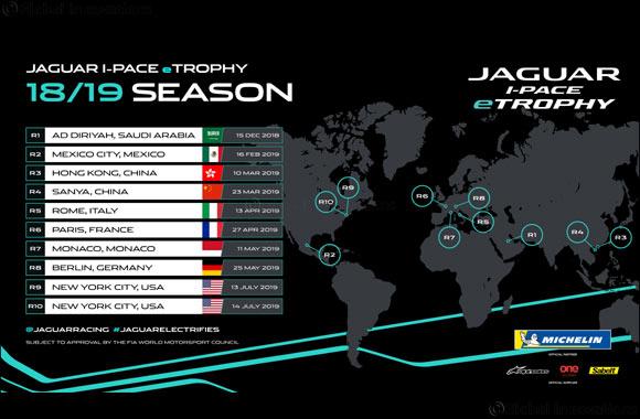 Debut Jaguar  I-PACE eTROPHY Calendar Announced