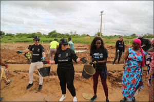 Volunteers from the UAE join hands with the community in Tasset Peulh village in Senegal to build a  ...