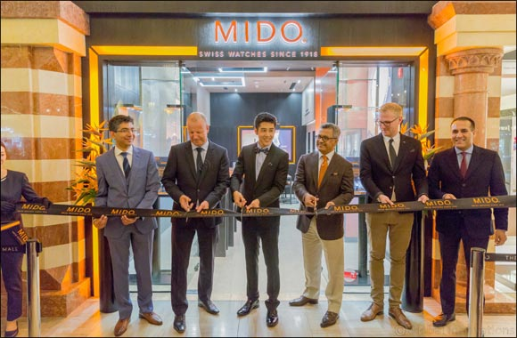 Mido establishes its distinctive presence in Dubai with the opening of its store at the Dubai Mall