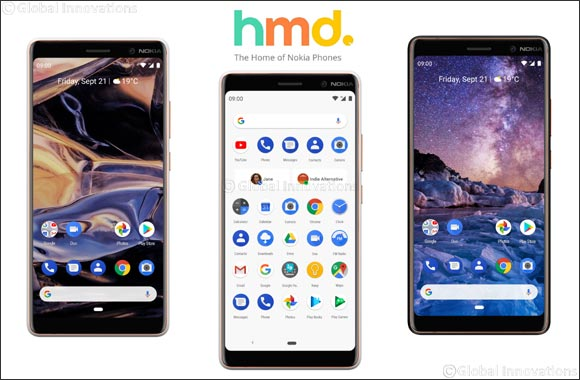 Nokia smartphones serves first slice of Android™ 9 Pie on the award-winning Nokia 7 plus in the UAE