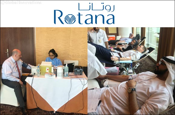 BurJuman Arjaan by Rotana, Jumeira Rotana and Villa Rotana Organized a Blood Donation Campaign