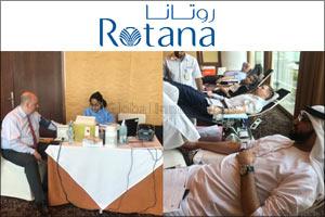 BurJuman Arjaan by Rotana, Jumeira Rotana and Villa Rotana Organized a Blood Donation Campaign