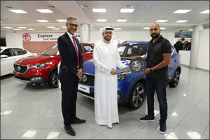 Gitex Shopper Competition Winner Drives Away in a  Brand-new MG ZS
