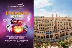 Hallowe'en parade at Golden Mile Galleria, Palm Jumeirah