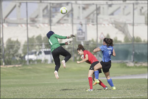 UAE National Team girls off to a flying start in the Dubai Sports Council Football Academies Champio ...