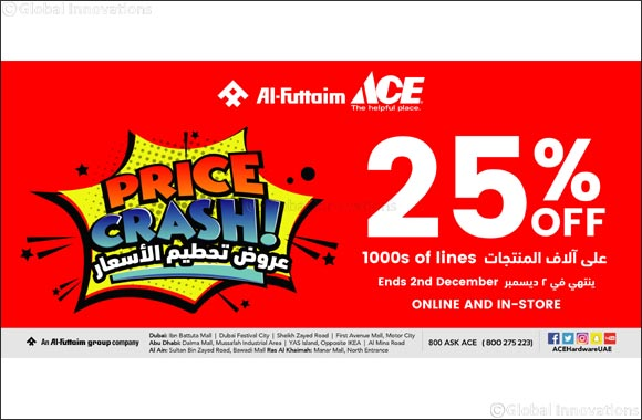 Al-Futtaim ACE Price Crash Sale offers massive deals