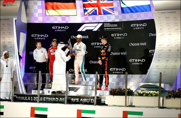 Lewis Hamilton Wins the 10th Edition of the Formula 1 Etihad Airways Abu Dhabi Grand Prix
