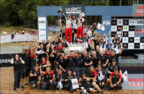 GAZOO Racing Wins Australia Rally at FIA World Rally Championship