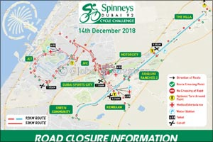 Spinneys Dubai 92 Cycle Challenge | Road Closure Timings