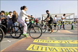 Dubai Health Authority breaks Guinness World Record for most participants in a bicycle relay
