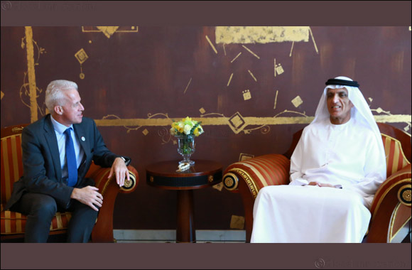 His Highness Sheikh Saud discusses collaboration with British Consul-General Andrew Jackson