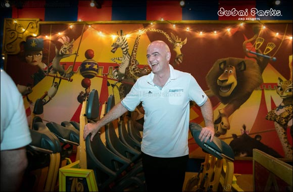 Dubai Parks and Resorts welcomes back FIFA President, Gianni Infantino