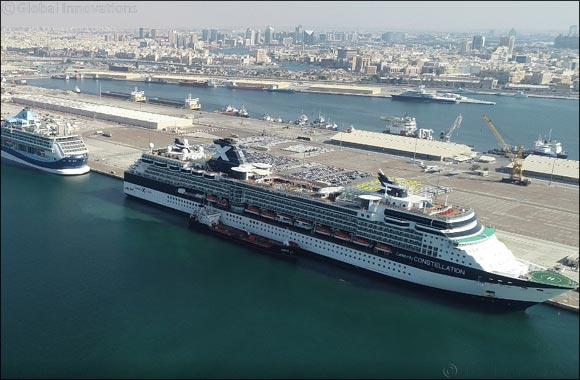 Hamdan Bin Mohamed Cruise Terminal welcome 2.3 million tourists since the inauguration in 2014.