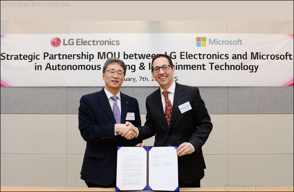 LG  Partners With Microsoft to Accelerate Automotive Revolution