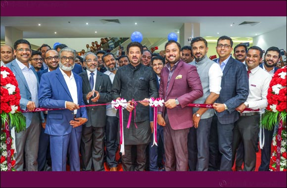 Bollywood Actor Anil Kapoor inaugurated 2 new outlets of Malabar Gold & Diamonds in UAE which was witnessed by a huge gathering