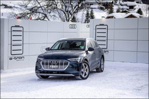 Audi electrifies the World Economic Forum in Davos
