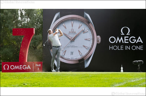 Sergio Garcia and Tommy Fleetwood tee off at the 2019 OMEGA Dubai Desert Classic