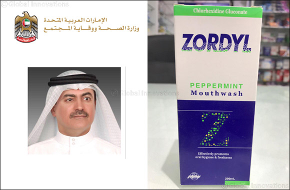 The Ministry of Health and Prevention withdraws Zordyl Mouthwash