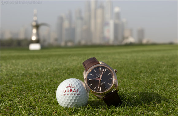 An 18K gold Seamaster Aqua Terra awaits  the winner of the OMEGA Dubai Desert Classic