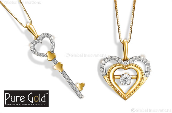 Pure Gold Jewellers launches romantic heart diamond pendants for Valentine's Day