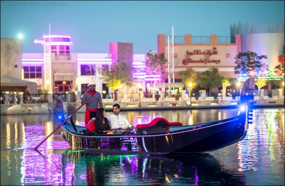 Treat your loved one to a romantic Venetian gondola cruise at Riverland™ Dubai on 14 Feb