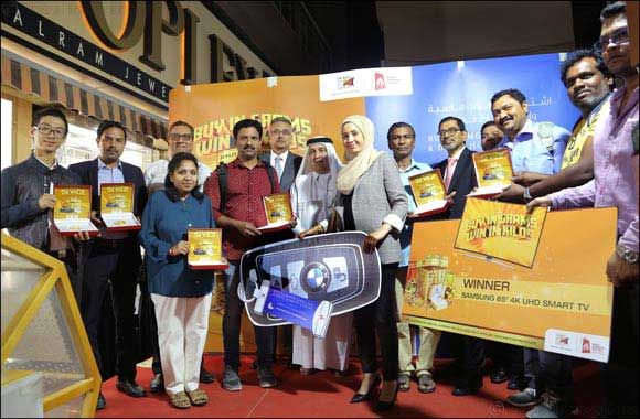 6.5 million worth of prizes won by jewellery shoppers this Dubai Shopping Festival