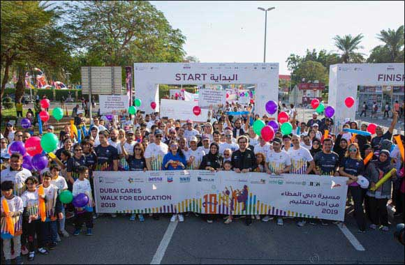 H.E. Minister Buhumaid leads Dubai Cares' Walk for Education alongside 15,000 participants to mark its 10th anniversary