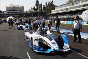 António F�lix da Costa finishes second on the podium for BMW i Andretti Motorsport in Mexico Ci ...