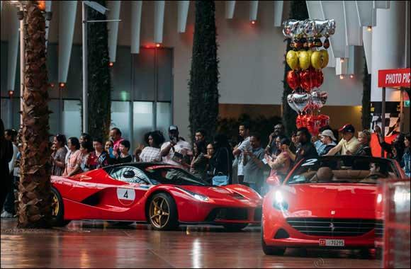 UAE's first ever Ferrari Cavalcade with 100 sports cars drives through Ferrari World Abu Dhabi