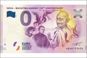 First-ever Euro Souvenir Banknotes launched to celebrate Gandhi's 150th birth year