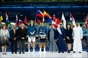 Federer beats Tsitsipas to win 100th title and Eighth Dubai Duty Free Tennis Championships crown