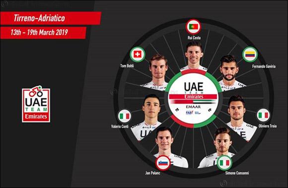 A Coast to Coast Challenge Awaits as UAE Team Emirates Heads to Italy for Tirreno-Adriatico