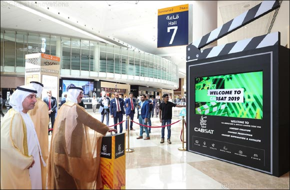His Highness Sheikh Hasher Bin Maktoum Al Maktoum, Director General of Dubai Department of Information, opens CABSAT 2019