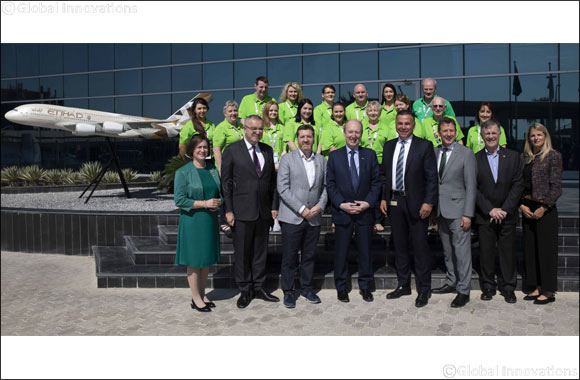 Etihad Airways Welcomes Ireland's Minister for Transport, Tourism and Sport to Its Abu Dhabi Headquarters