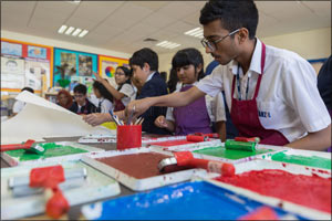 Manzil and Repton school Dubai collaborate on sustainable art project