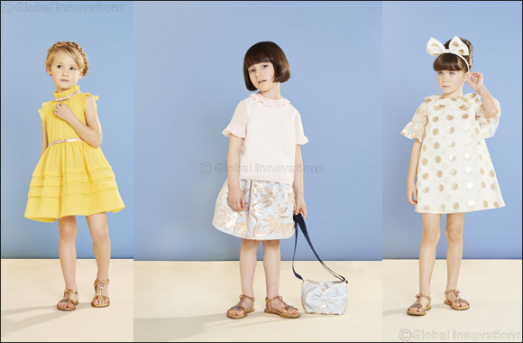 Hucklebones create charming pieces for girls filled with easy-going elegance for SS2019