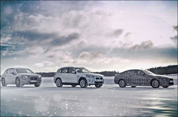 The BMW iX3, the BMW i4 and the BMW iNEXT undergo cold testing in the Arctic Circle