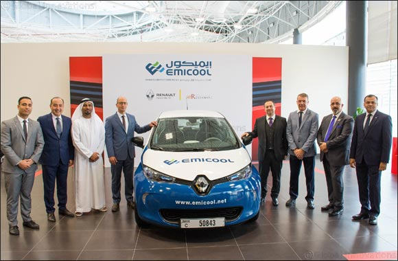 Emicool gears up for sustainability drive with Renault ZOE electric vehicle fleet, green public parking