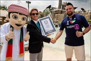 Yas Waterworld earns Guinness World Records title for �Most Nationalities in a Swimming Pool�