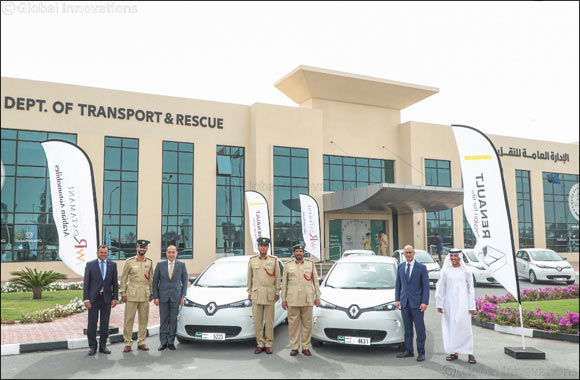 Dubai Police supports green vision with addition of 13 Renault ZOE electric cars from Arabian Automobiles to its patrol fleet
