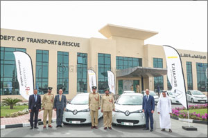 Dubai Police supports green vision with addition of 13 Renault ZOE electric cars from Arabian Automo ...